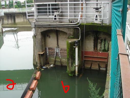 分水へ通じる水門